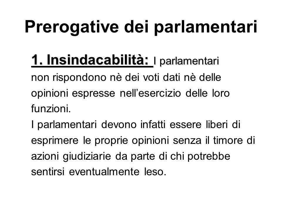 Prerogative dei parlamentari