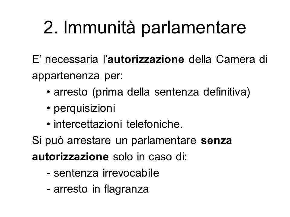 2. Immunità parlamentare