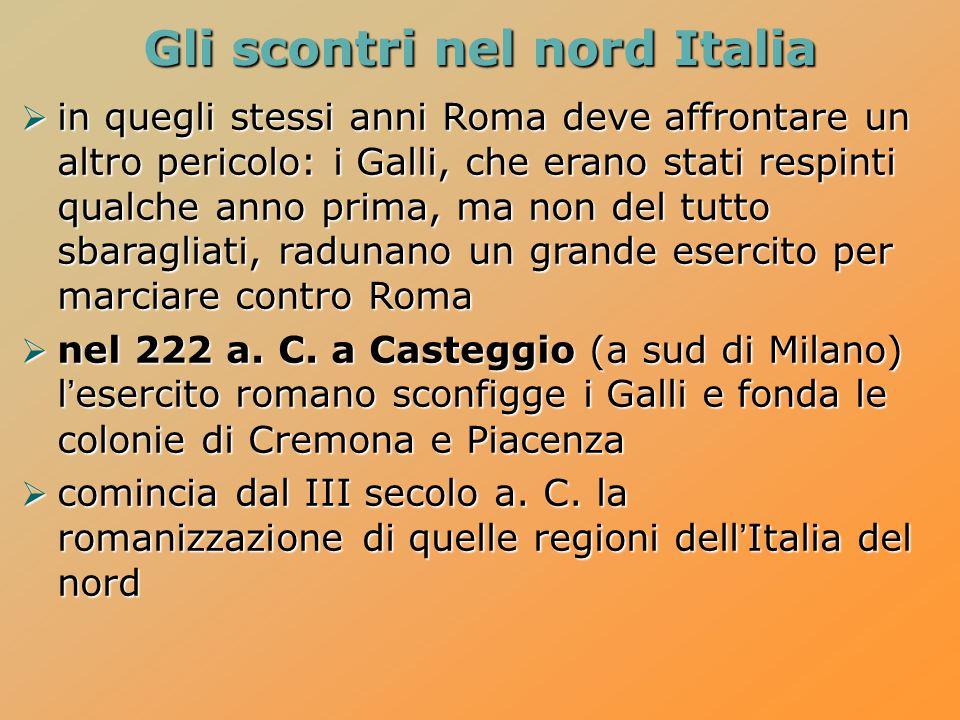Gli scontri nel nord Italia
