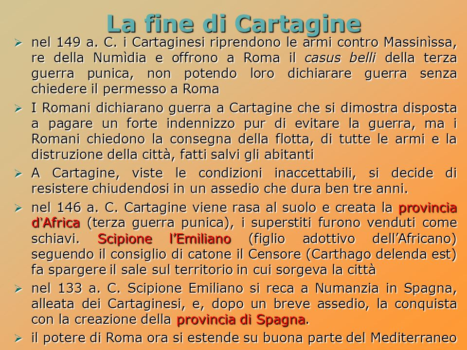La fine di Cartagine