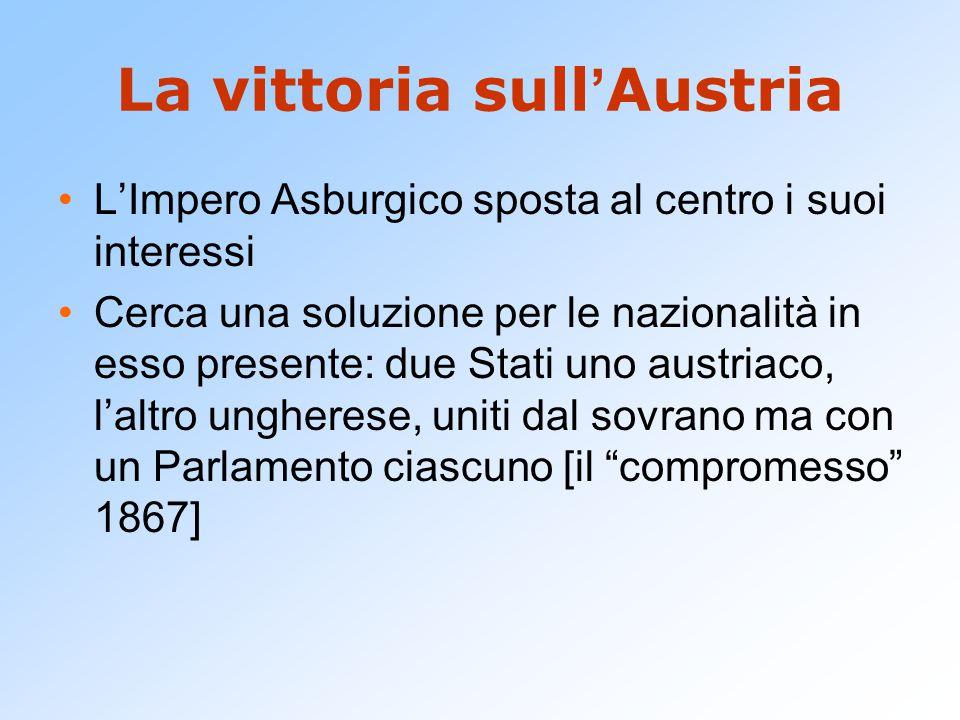 La vittoria sull'Austria