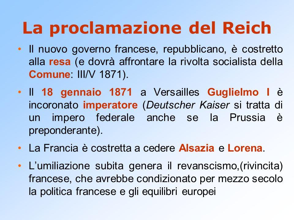 La proclamazione del Reich