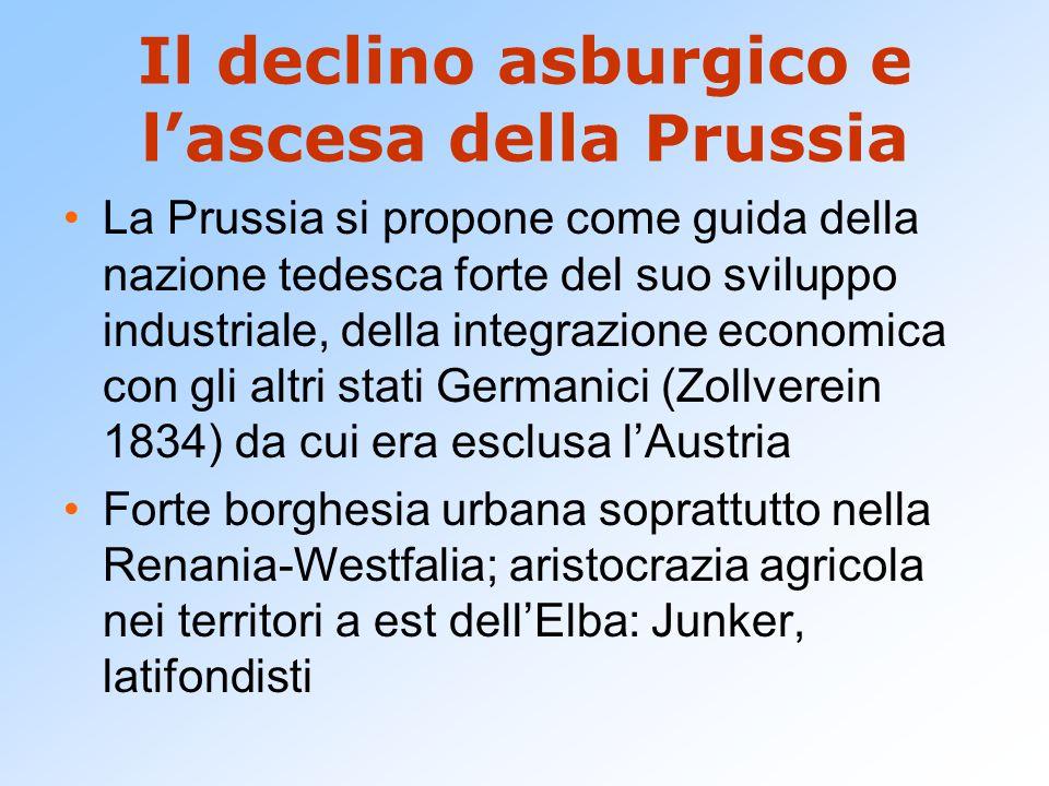 Il declino asburgico e l'ascesa della Prussia