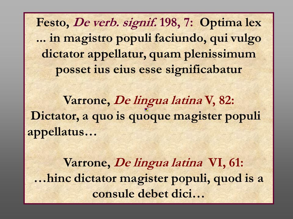 Festo, De verb. signif. 198, 7: Optima lex