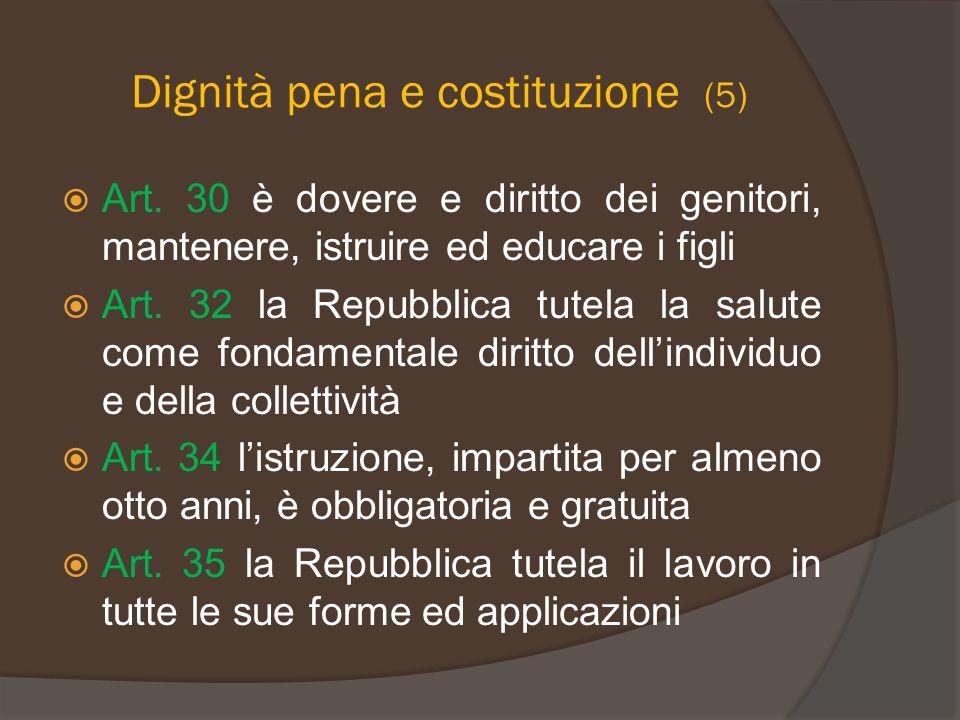 Dignità pena e costituzione (5)