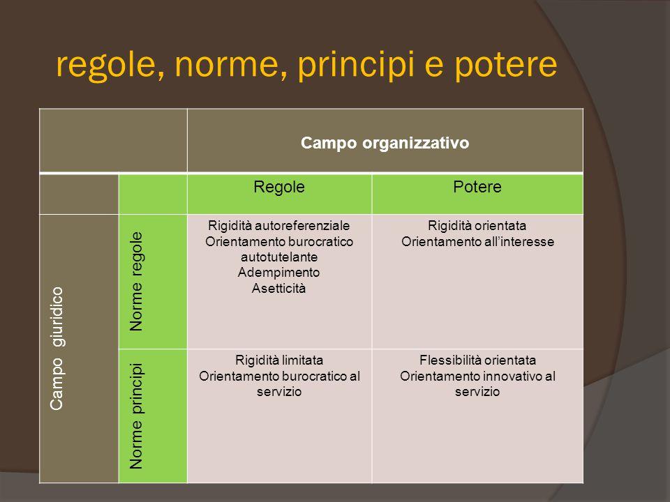 regole, norme, principi e potere