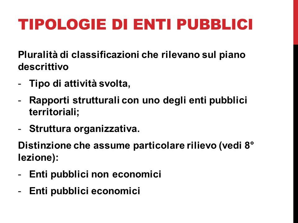 Tipologie di enti pubblici