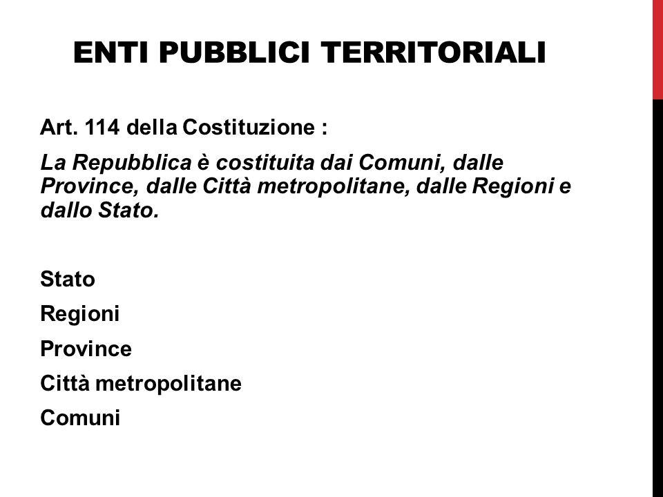 Enti pubblici territoriali