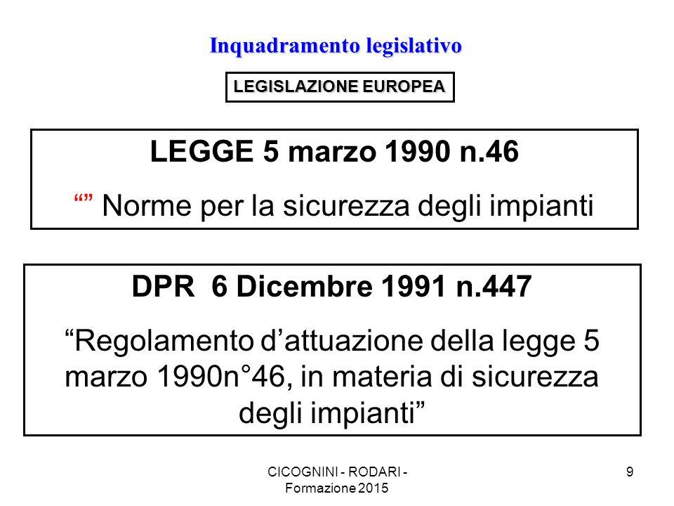 LEGGE 5 marzo 1990 n.46 DPR 6 Dicembre 1991 n.447