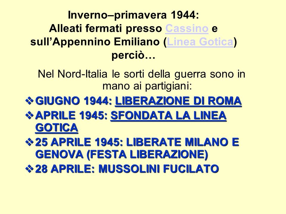 Nel Nord-Italia le sorti della guerra sono in mano ai partigiani: