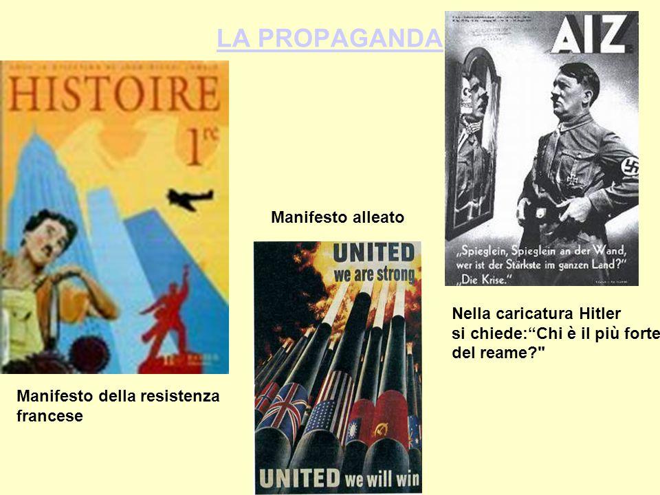 LA PROPAGANDA Manifesto alleato Nella caricatura Hitler
