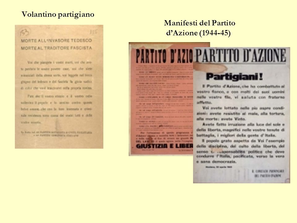 Manifesti del Partito d'Azione (1944-45)