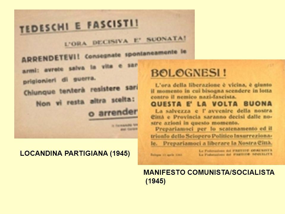 LOCANDINA PARTIGIANA (1945)