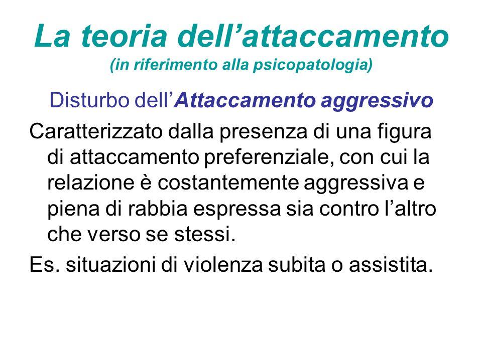 La teoria dell'attaccamento (in riferimento alla psicopatologia)