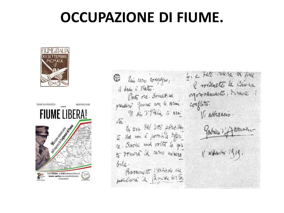 OCCUPAZIONE DI FIUME.