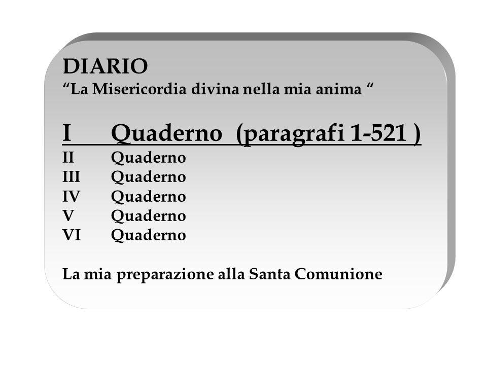 I Quaderno (paragrafi 1-521 )