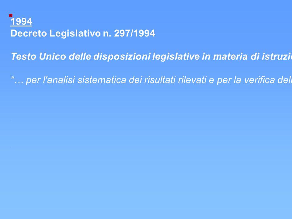 Decreto Legislativo n. 297/1994