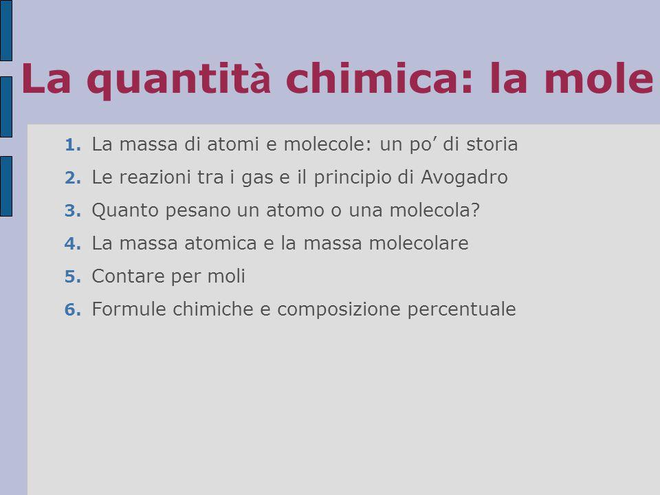 La quantità chimica: la mole