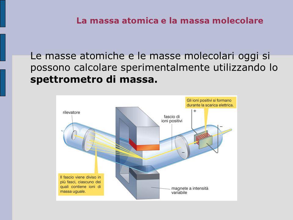 La massa atomica e la massa molecolare