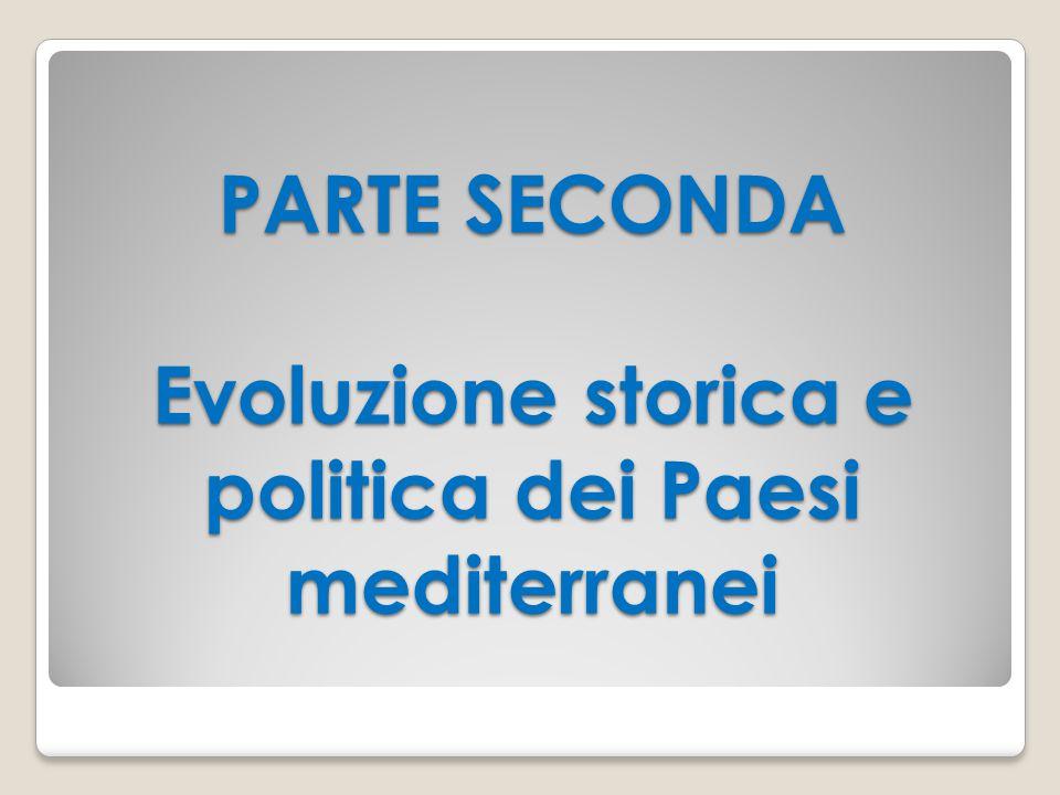 PARTE SECONDA Evoluzione storica e politica dei Paesi mediterranei