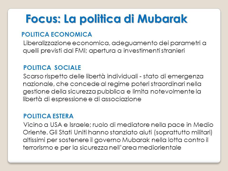 Focus: La politica di Mubarak