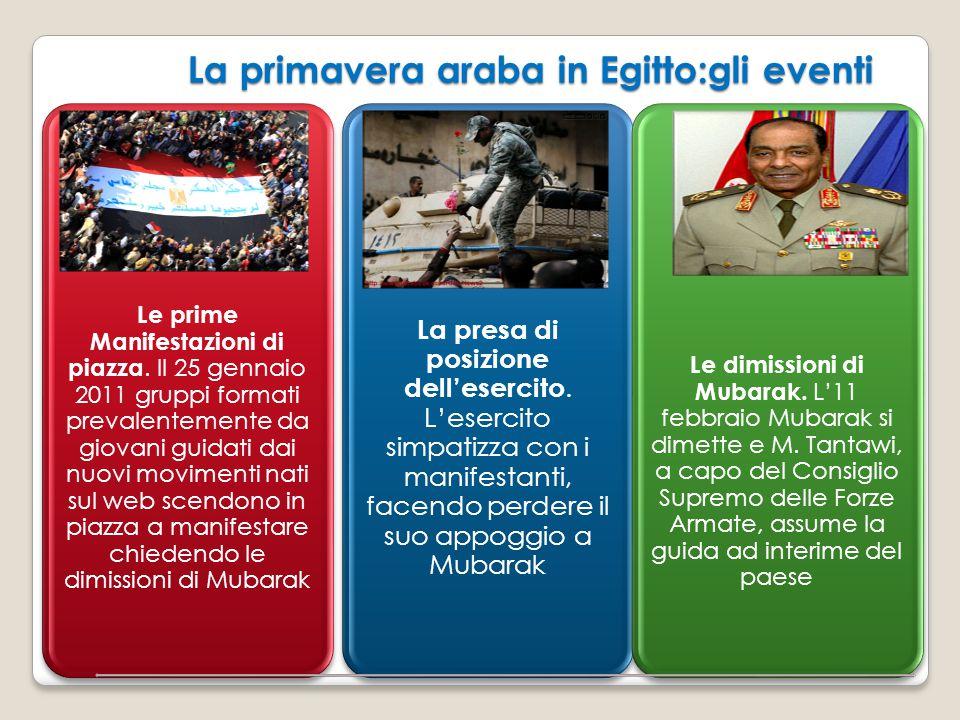 La primavera araba in Egitto:gli eventi