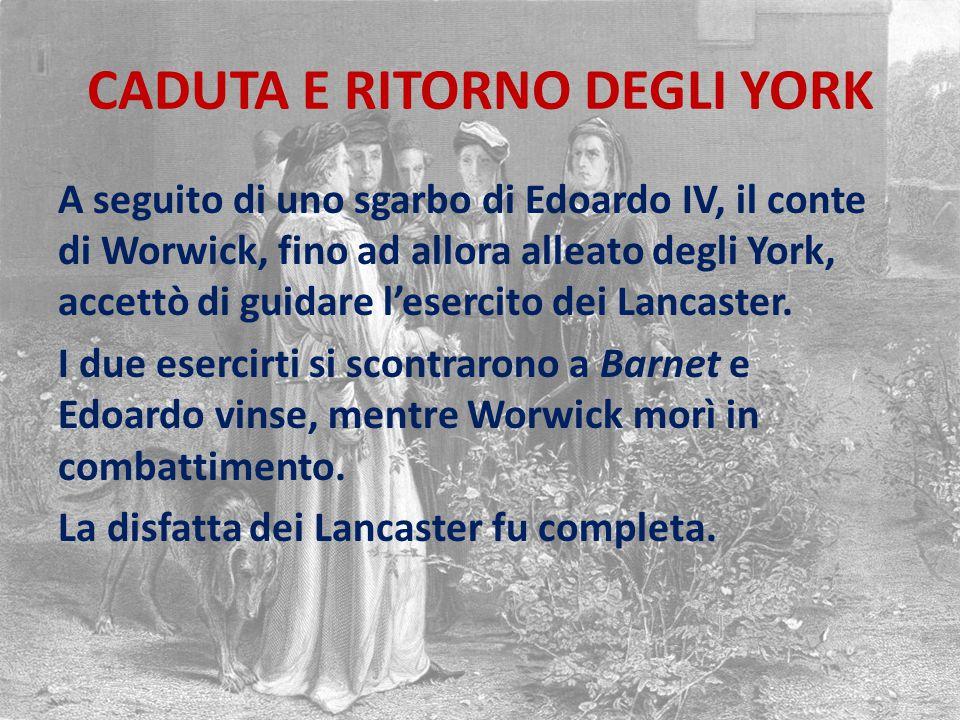 CADUTA E RITORNO DEGLI YORK