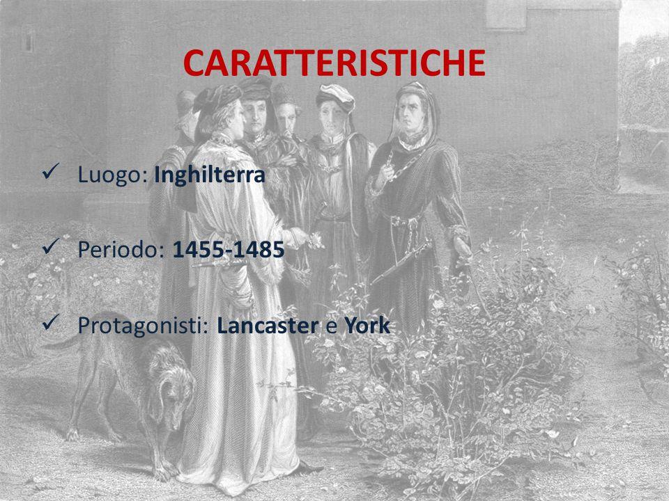 CARATTERISTICHE Luogo: Inghilterra Periodo: 1455-1485
