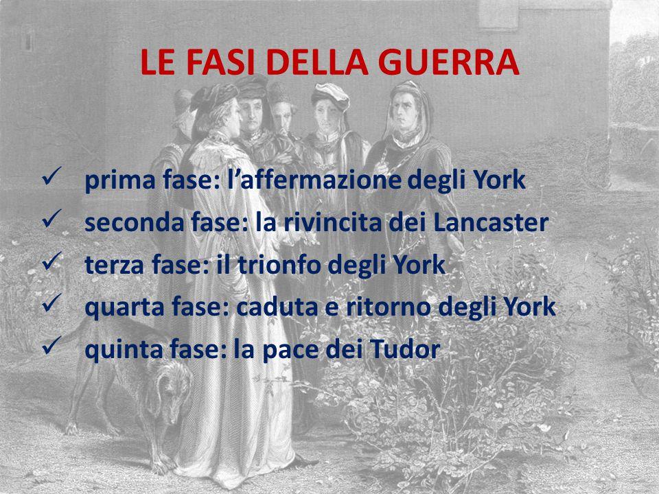 LE FASI DELLA GUERRA prima fase: l'affermazione degli York