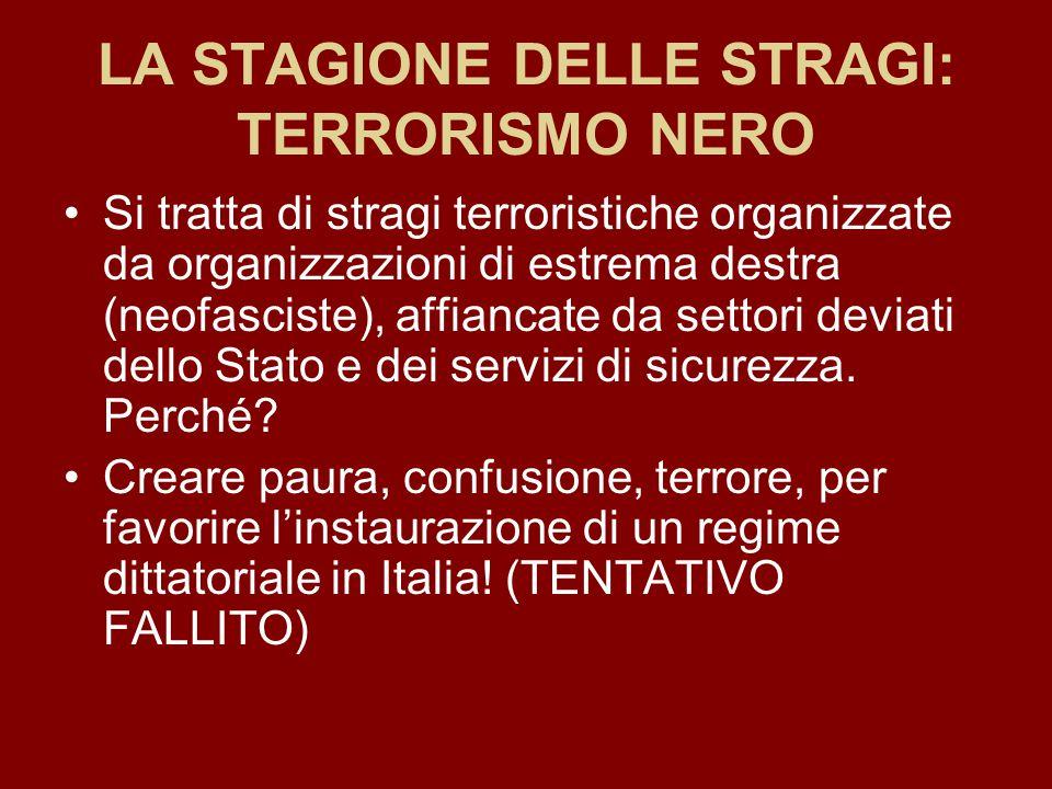 LA STAGIONE DELLE STRAGI: TERRORISMO NERO