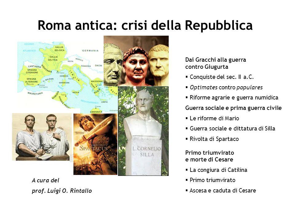 Roma antica: crisi della Repubblica