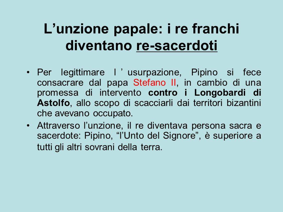 L'unzione papale: i re franchi diventano re-sacerdoti