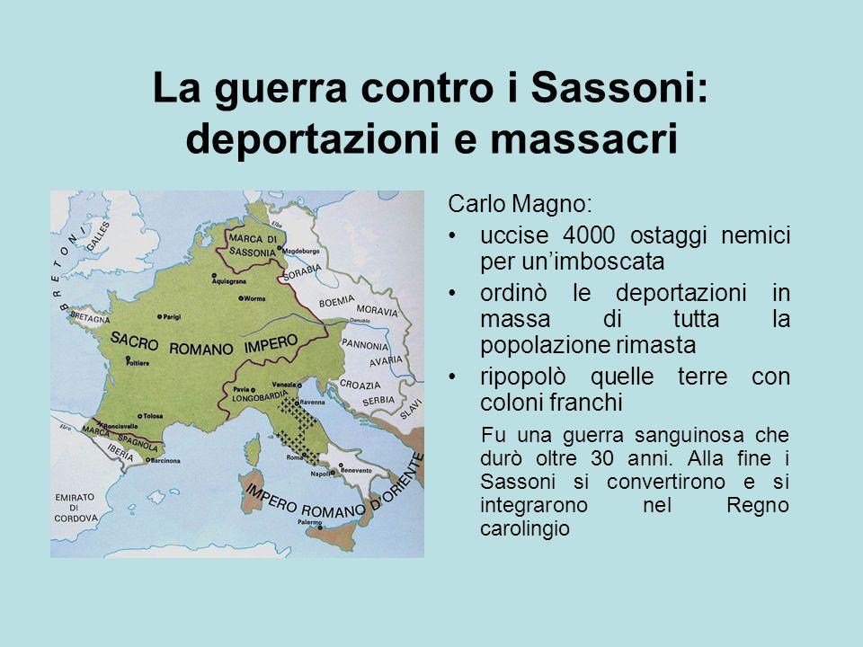 La guerra contro i Sassoni: deportazioni e massacri