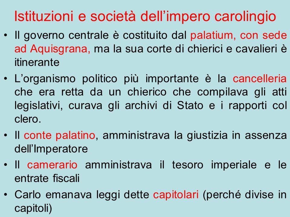 Istituzioni e società dell'impero carolingio
