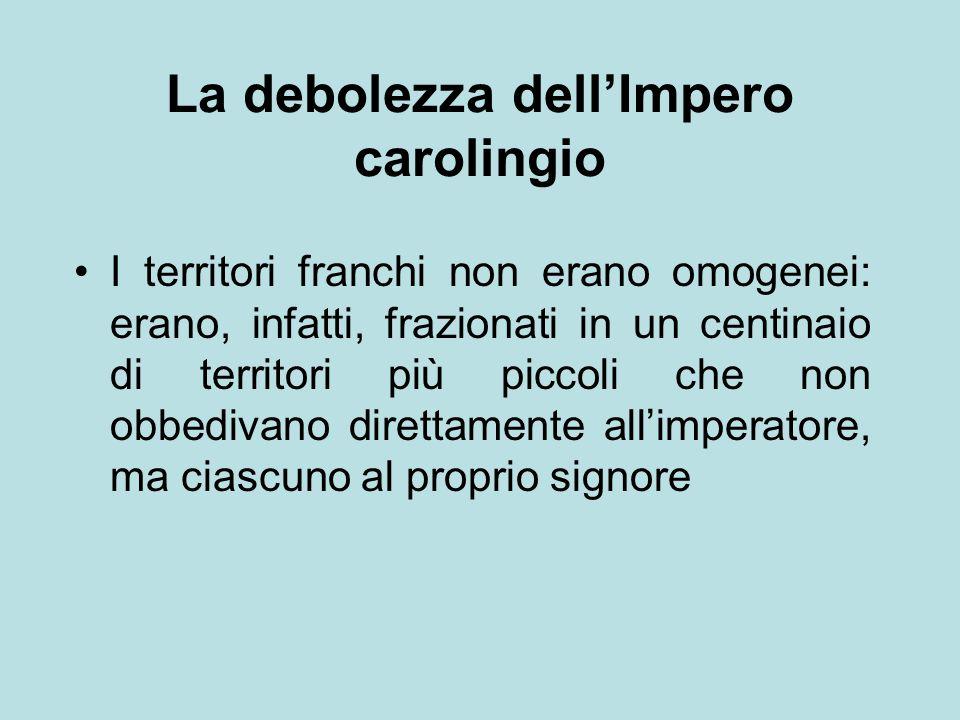 La debolezza dell'Impero carolingio