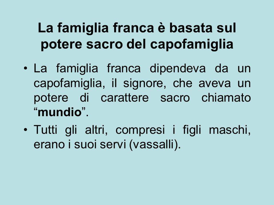 La famiglia franca è basata sul potere sacro del capofamiglia
