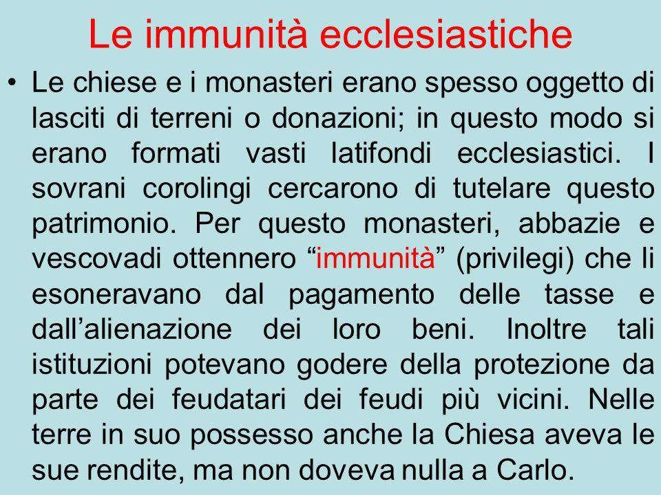 Le immunità ecclesiastiche