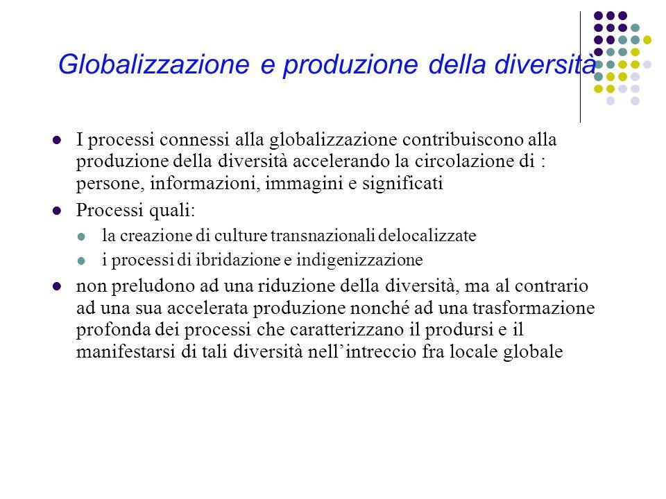 Globalizzazione e produzione della diversità