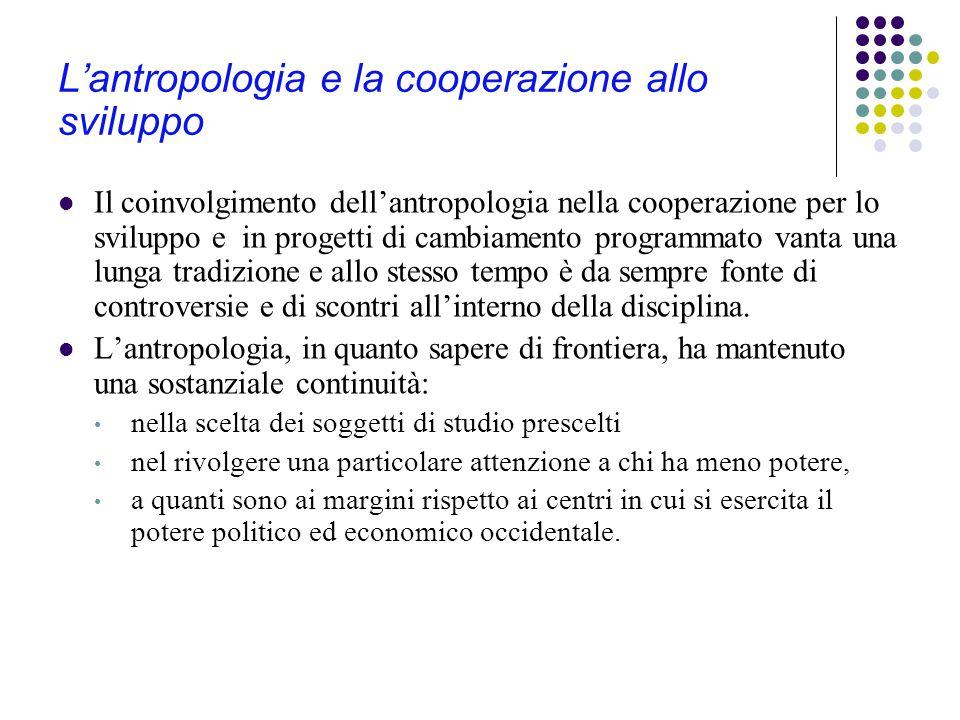 L'antropologia e la cooperazione allo sviluppo