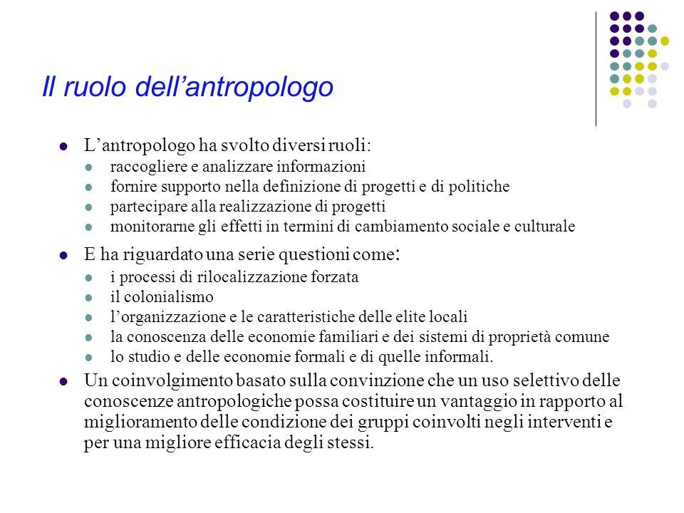 Il ruolo dell'antropologo