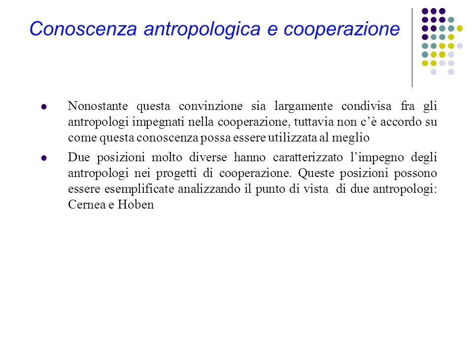 Conoscenza antropologica e cooperazione