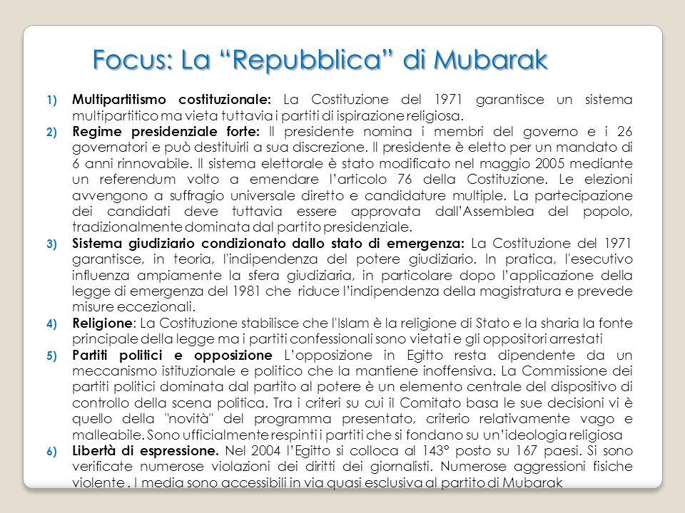 Focus: La Repubblica di Mubarak