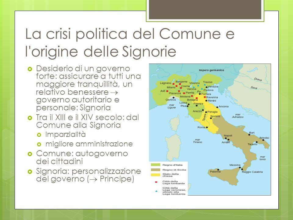 La crisi politica del Comune e l origine delle Signorie