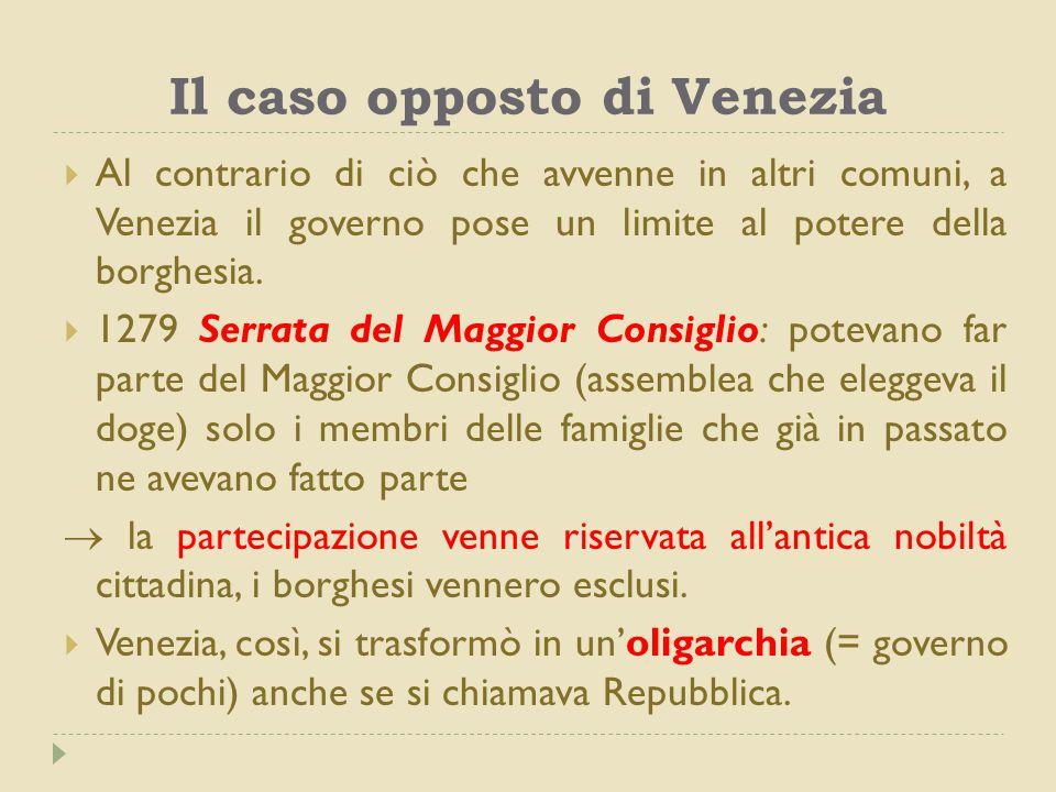 Il caso opposto di Venezia