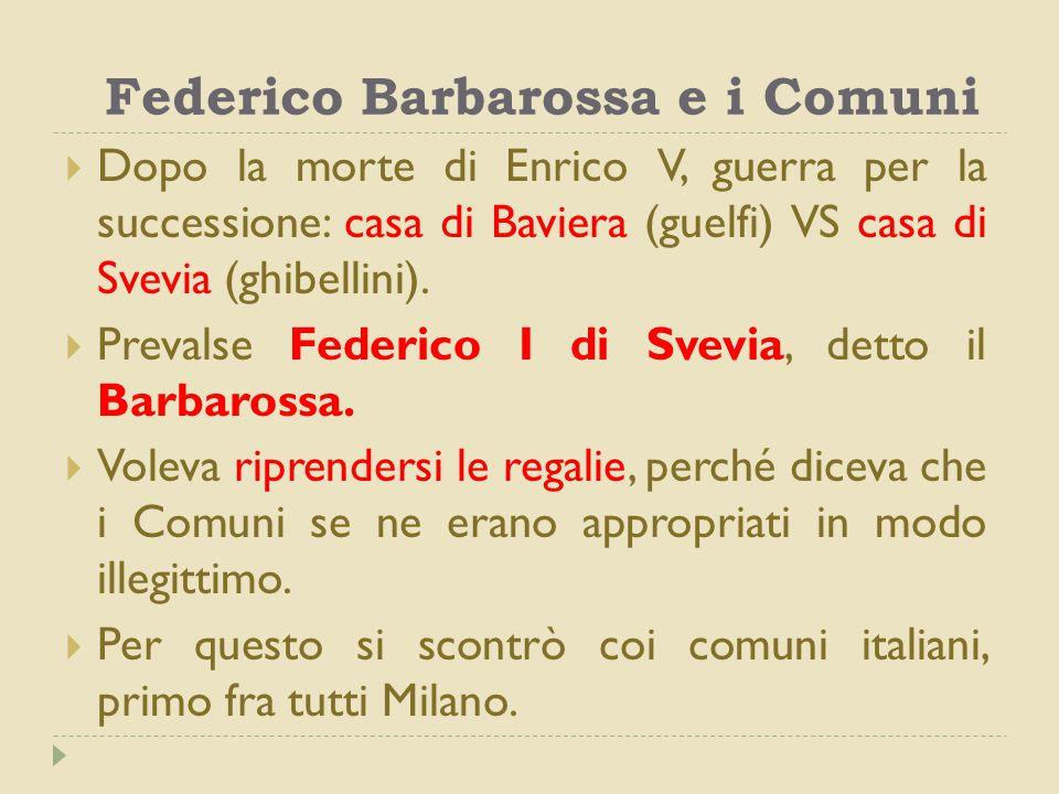 Federico Barbarossa e i Comuni