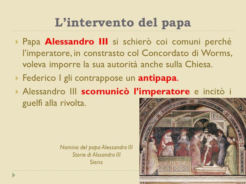 L'intervento del papa