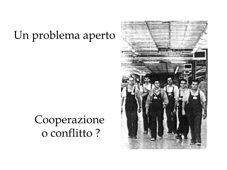 Un problema aperto Cooperazione o conflitto