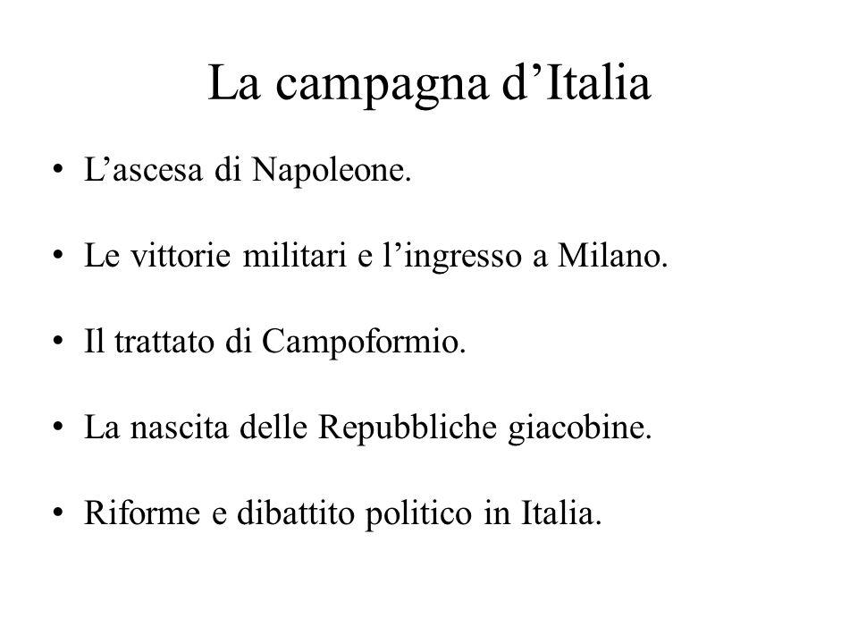 La campagna d'Italia L'ascesa di Napoleone.