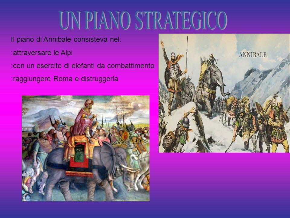 UN PIANO STRATEGICO Il piano di Annibale consisteva nel: