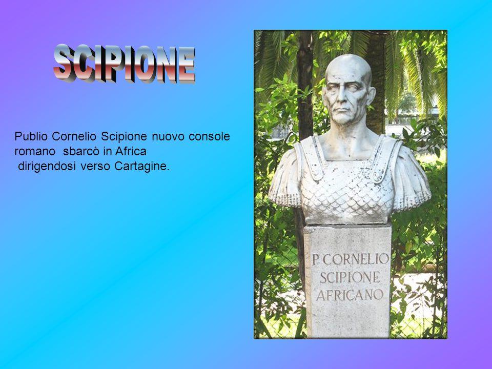 SCIPIONE Publio Cornelio Scipione nuovo console